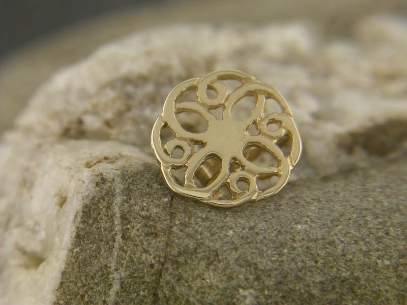 A picture of '18ct Gold Summer Rose Pin'