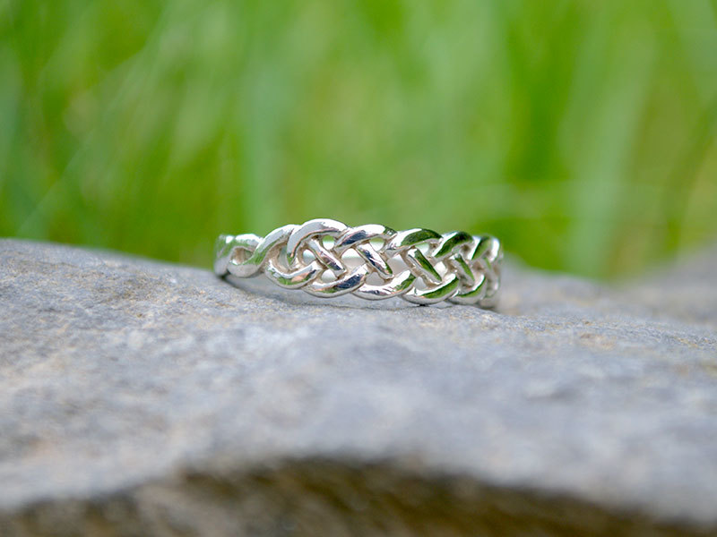 A picture of 'Silver Pierced Knot Ring'