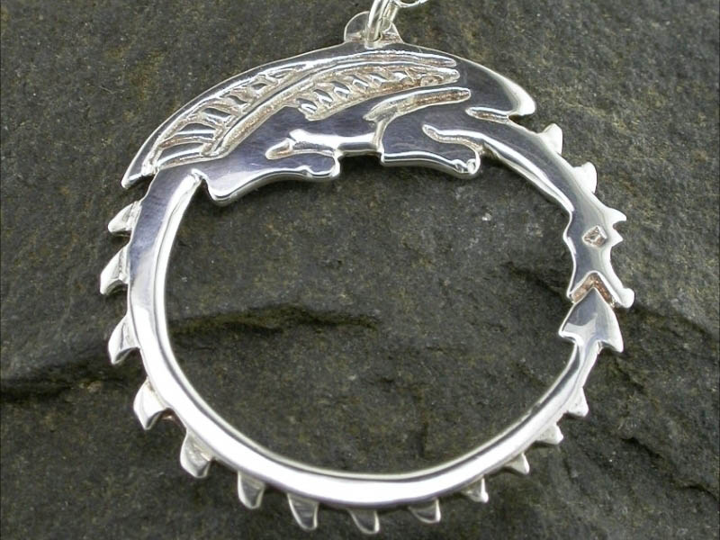 A picture of 'Silver Circle Dragon Pendant'