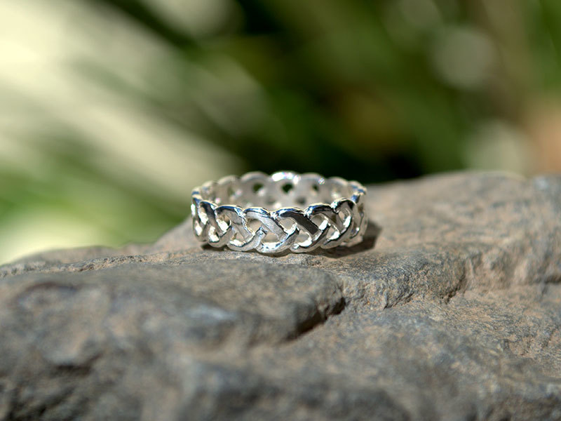 A picture of 'Silver Plait Knotwork Ring'