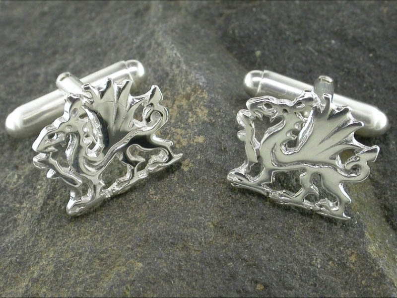 A picture of 'Silver Welsh Dragon Cufflinks'