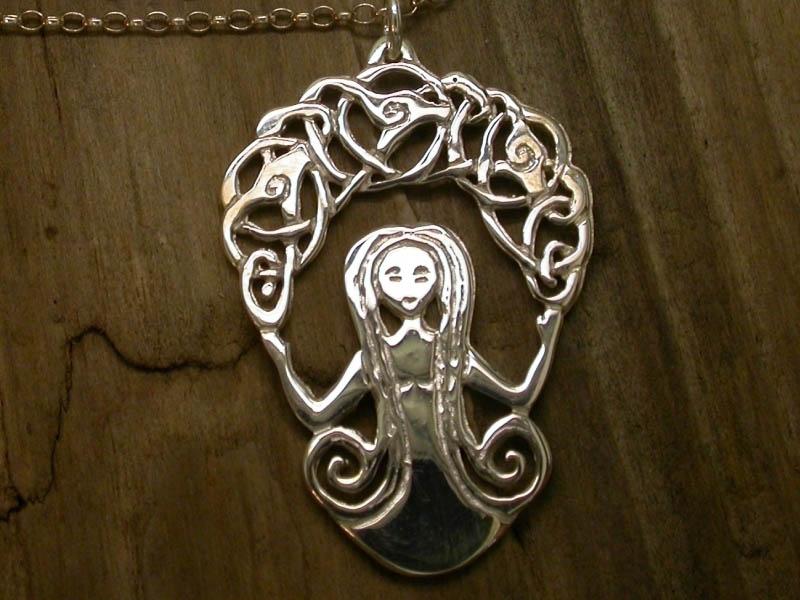 A picture of 'Silver Rhiannon Pendant'