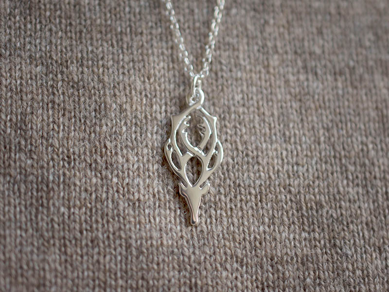 A picture of 'Silver Rhedynfre Stag Pendant'