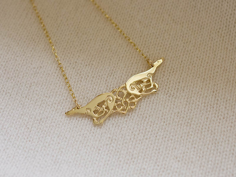 A picture of '9ct Gold Greyhounds Necklet'
