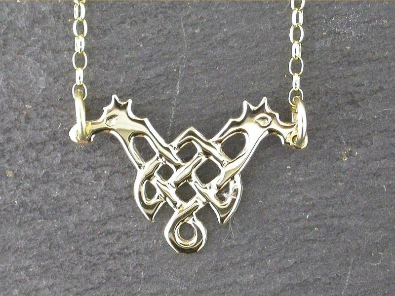 A picture of '9ct Gold Knotted Dragon Necklet'