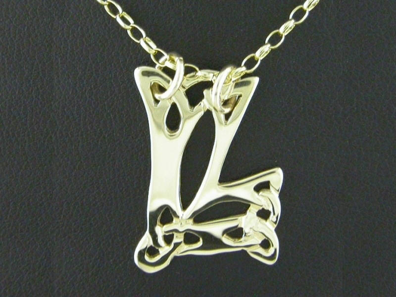 A picture of '9ct Gold Pendant - Initial LL'