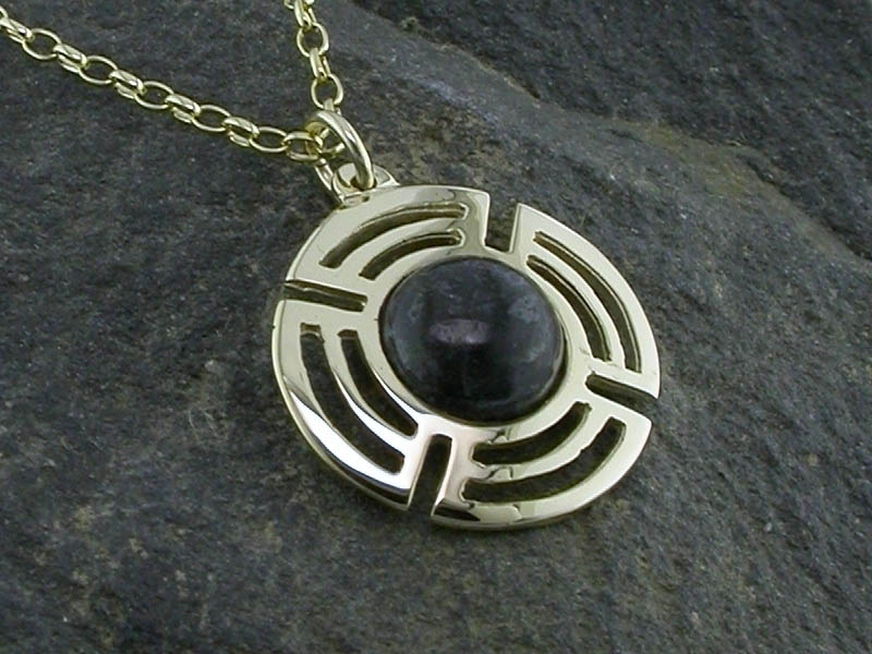 A picture of '9ct Gold Preseli Planetary Pendant'