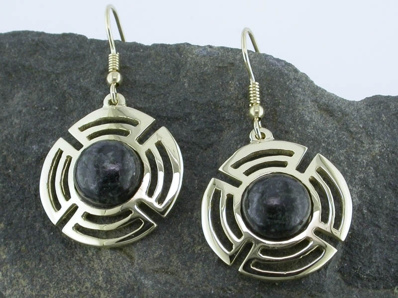 A picture of '9ct Gold Preseli Planetary Earrings'