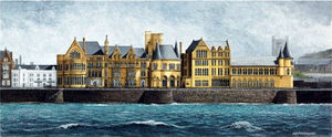 A picture of 'Old College from the Sea, Aberystwyth'