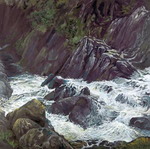 A picture of 'River Gamlan, Coed Ganllwyd'