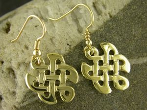 A picture of '18ct Gold Celtic Knot Earrings'
