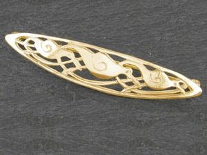 A picture of '9ct Gold Rhiannon's Birds Brooch'
