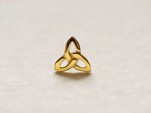 A picture of '18ct Gold Small Triple Knot Pin'