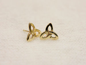 A picture of '18ct Gold Small Triple Knot Earstuds'