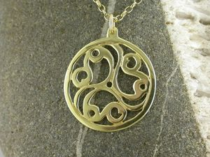 A picture of '18ct Gold Talyllyn Triskele Pendant'