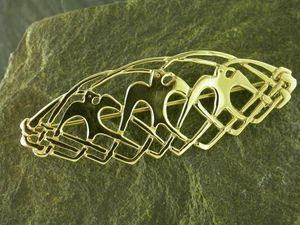 A picture of '9ct Gold Seagulls Brooch'
