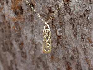 A picture of '18ct Gold White Wheat Pendant'