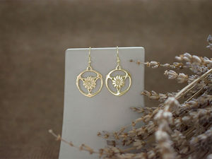 A picture of '9ct Gold Gorsedd of Birds Earrings'