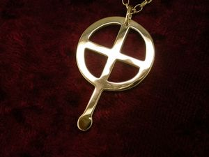 A picture of '18ct Gold St Non Cross Pendant'