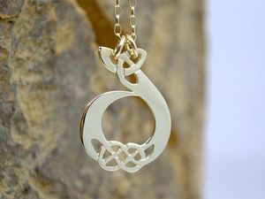 A picture of '18ct Gold Pendant - Initial D'