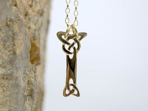 A picture of '18ct Gold Pendant - Initial I'