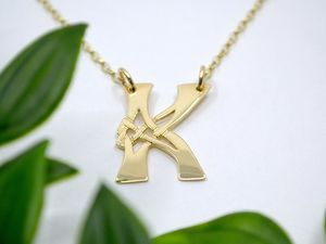 A picture of '18ct Gold Pendant - Initial K'