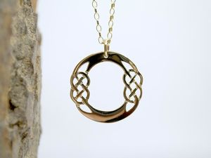 A picture of '18ct Gold Pendant - Initial O'