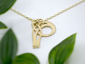 A picture of '18ct Gold Pendant - Initial P'