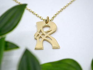 A picture of '18ct Gold Pendant - Initial R'