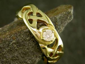 A picture of '9ct Gold Precious Gemstone Llanon Ring'