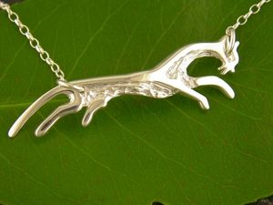 A picture of 'Silver White Horse Necklet'