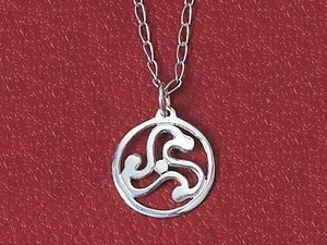 A picture of 'Silver Anglia Triskele Pendant'