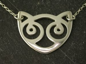 A picture of 'Silver Snowdon Cat Necklet'