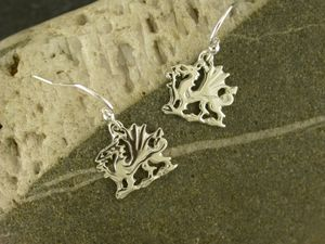 A picture of 'Silver Welsh Dragon Earrings'