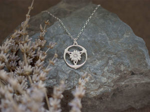 A picture of 'Silver Gorsedd of Birds Pendant'