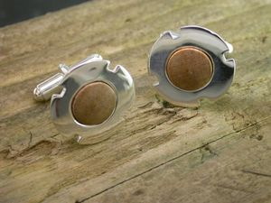 A picture of 'Silver Cilmeri Silver Cufflinks'