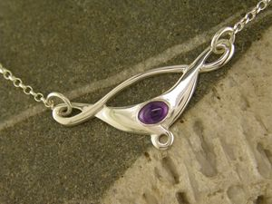 A picture of 'Silver Small Rhaeadr Necklet'