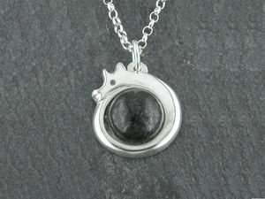 A picture of 'Silver Preseli Dragon Pendant'