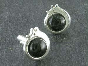 A picture of 'Silver Preseli Dragon Cufflinks'