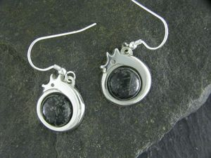 A picture of 'Silver Preseli Dragon Earrings'