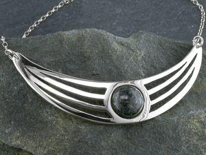 A picture of 'Silver Preseli Lunula Necklet'