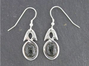 A picture of 'Silver Preseli Simple Knot Earrings'