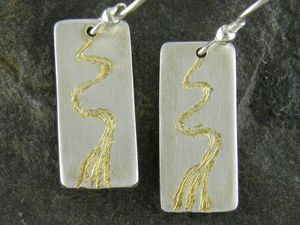 A picture of 'Silver and Gold Afon Teifi Earrings'