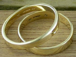 A picture of 'Rhiannon Welsh Gold Wedding Ring'