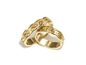 A picture of '18ct Rhiannon Welsh Gold Hafren Ring'