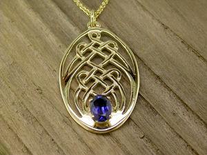 A picture of '9ct Rhiannon Welsh Gold Cantre'r Gwaelod Pendant'