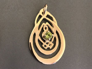 A picture of '9ct Rhiannon Welsh Gold Spring Bud Pendant'