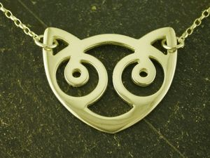 A picture of '9ct Gold Snowdon Cat Necklet'