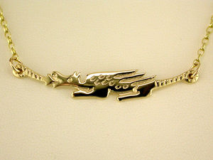 A picture of '9ct Long Dragon Necklet'