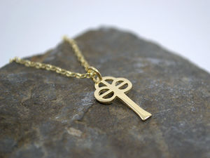 A picture of '9ct Gold Small St Caron Cross Pendant'